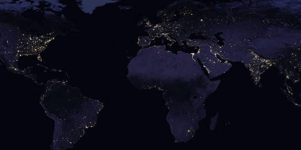 Photo of Earth with Light pollution around the world
