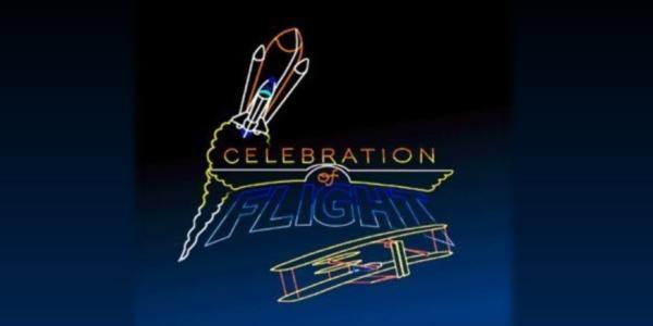 Laser Celebration of Flight graphic