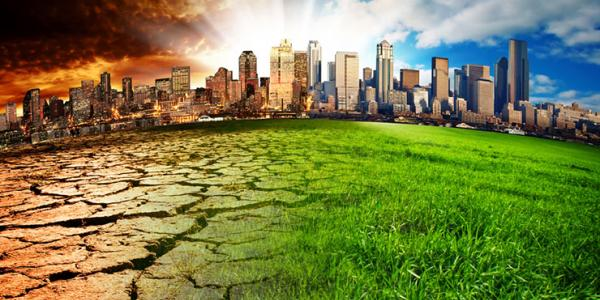 Climate Change in a City illustration
