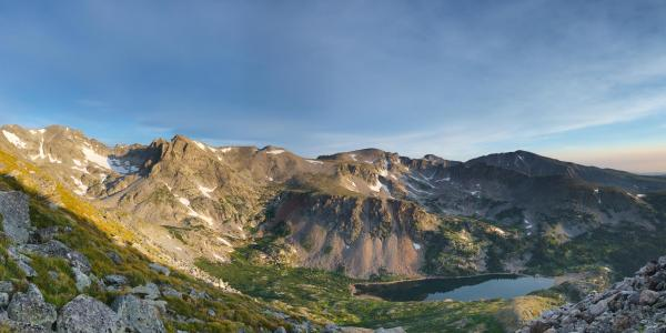 Photo of the Isabelle Glacier in Colorado at sunrise
