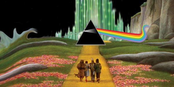 Dark Side of the Rainbow yellow brick road to the emerald city with floyd logo