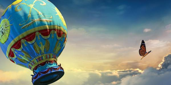 Dream to Fly with Hot Air Balloon still image from film