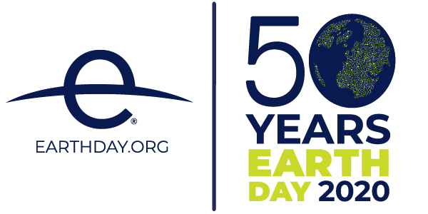 Earth Day 2020 logo celebrating the 50th anniversary