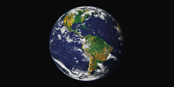 Photo of Earth topography exaggerated