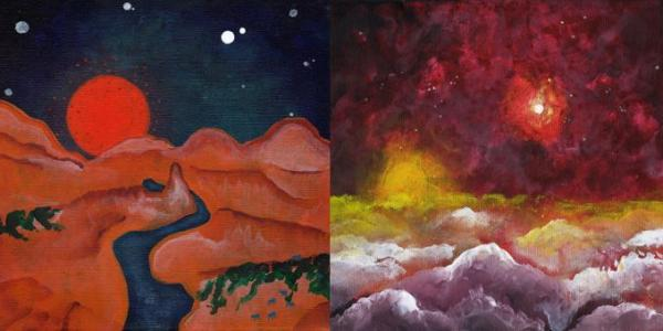 Photo of four of Mary Recchia's pieces