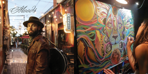 Two photos of artists for Culture Crawl at Fiske - guitarist Taylor Tuke and Laura McGowan