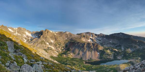 Photo of Isabelle Glacier at sunrise