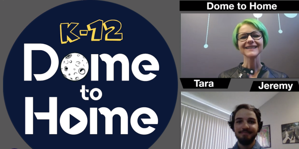 Dome to Home with live presenter and navigator photos