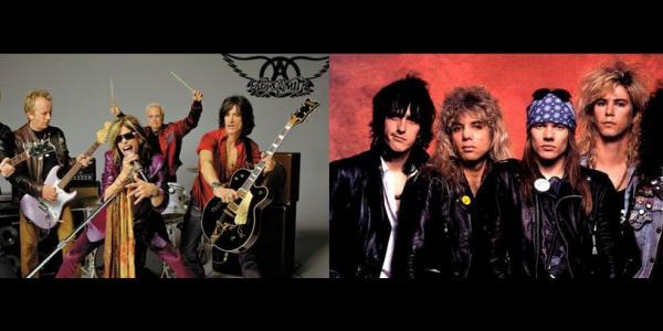 Aerosmith and Guns n' Roses images