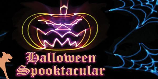 Laser Halloween Spooktacular with cat and spider webs