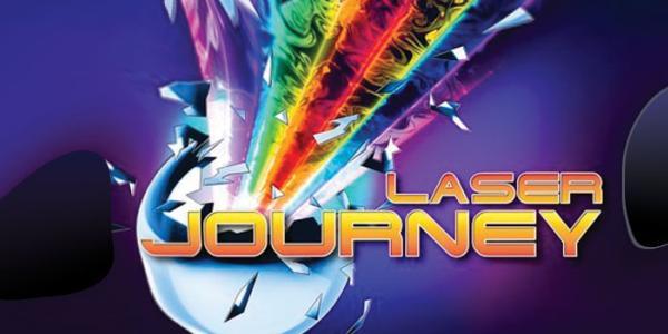 Laser Journey graphic with purple swirls