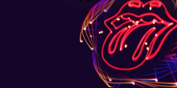 Laser Rolling Stone Lips
