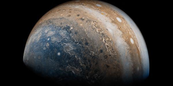 Current photo of Jupiter taken from NASA's Juno spacecraft
