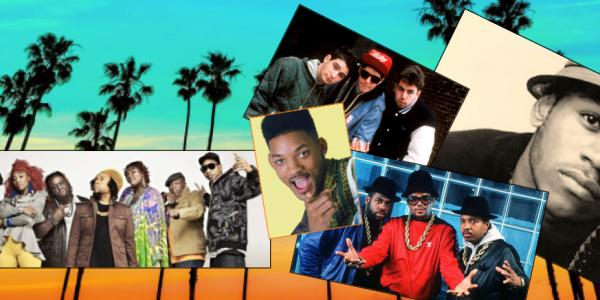 Various rap artists in collage