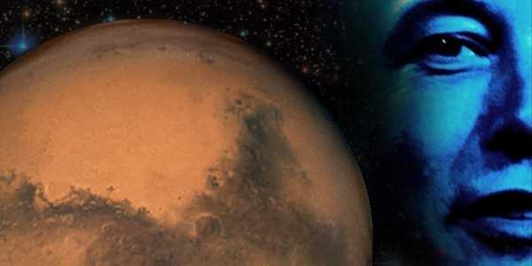 Mars and photo of Elon Musk