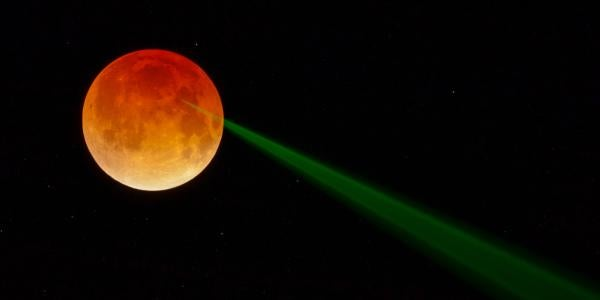 Moons and Lasers