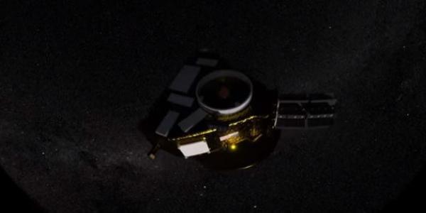 Screen capture of short film MU69 shows New Horizon Spacecraft