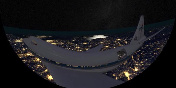 Still image from short film of SOPHIA aircraft
