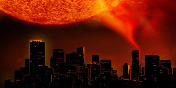 Poster for Solar Superstorms fulldome show
