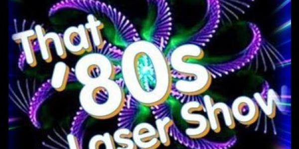 That 80s Laser show wording in laser form