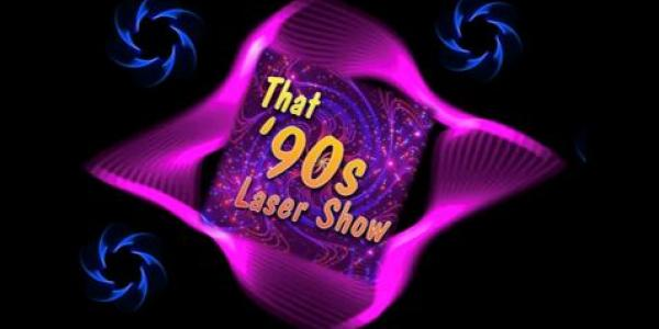 That 90s Laser show wording in laser form
