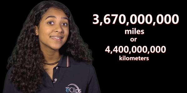 Screen Capture of Presenter talking about astronomical distances