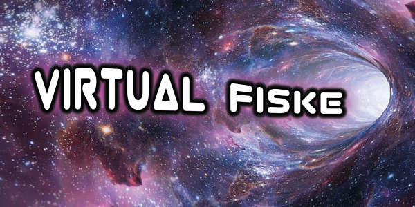Virtual Fiske text in a worm hole