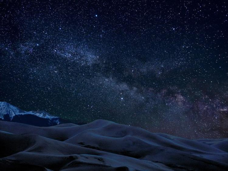 Milky Way in the Sky with the Great Sand Dunes in Colorado in view