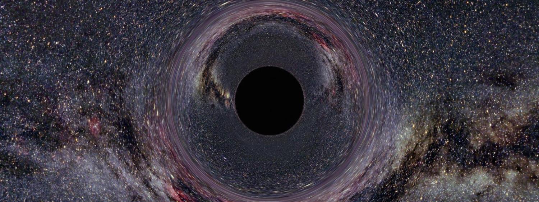 Artist illustration of a black hole
