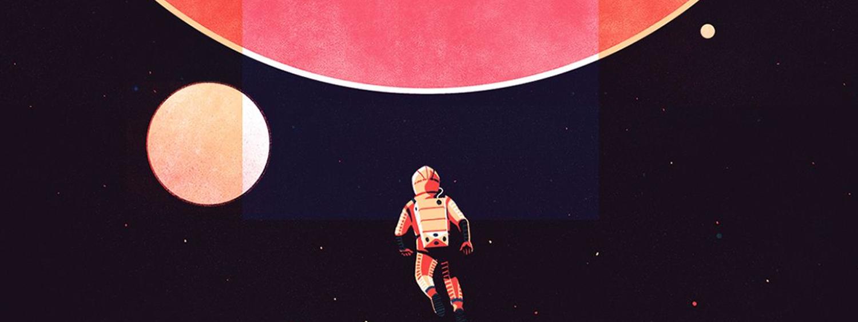 Artist illustration of astronaut