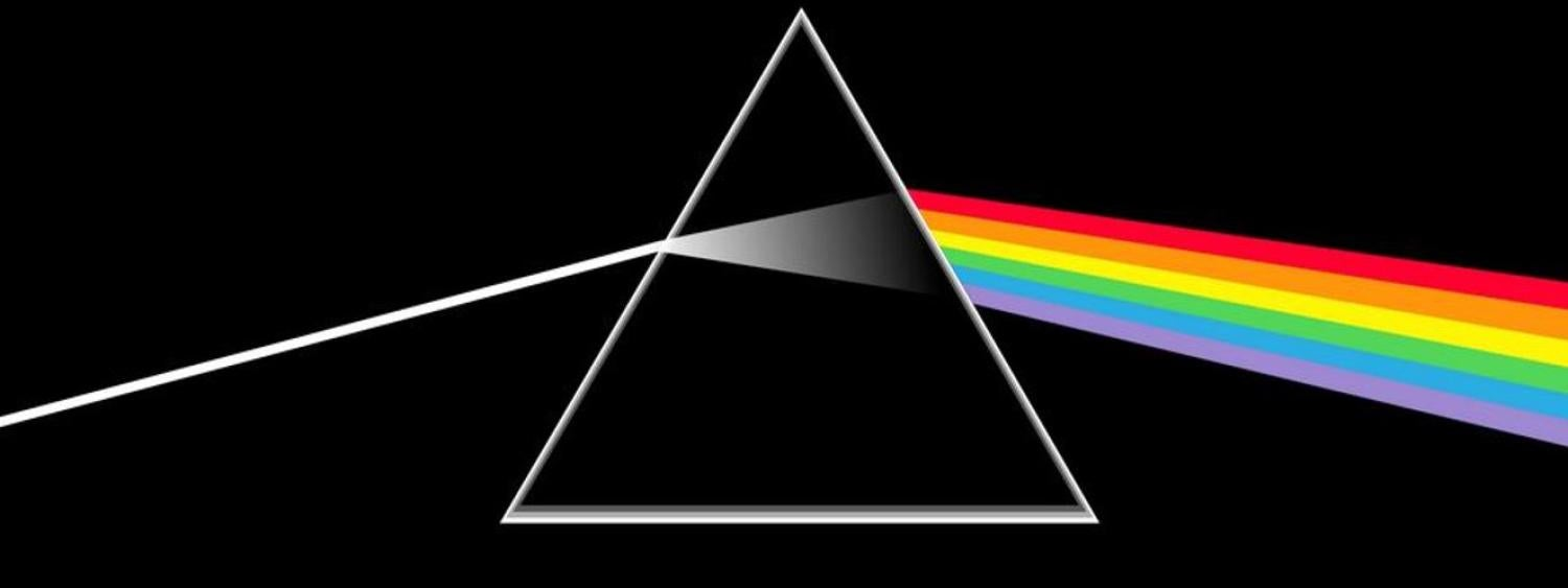 Pink Floyd logo with prism and rainbow