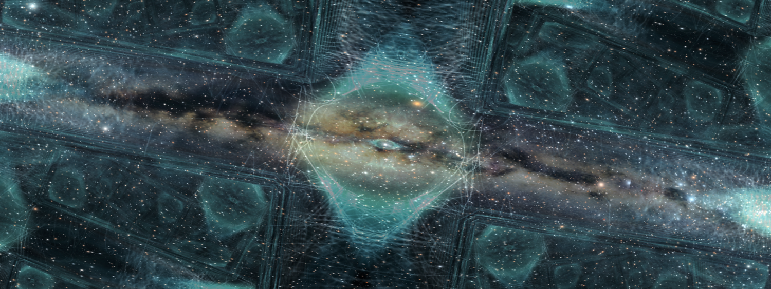 Galaxy graphic with Liquid Sky