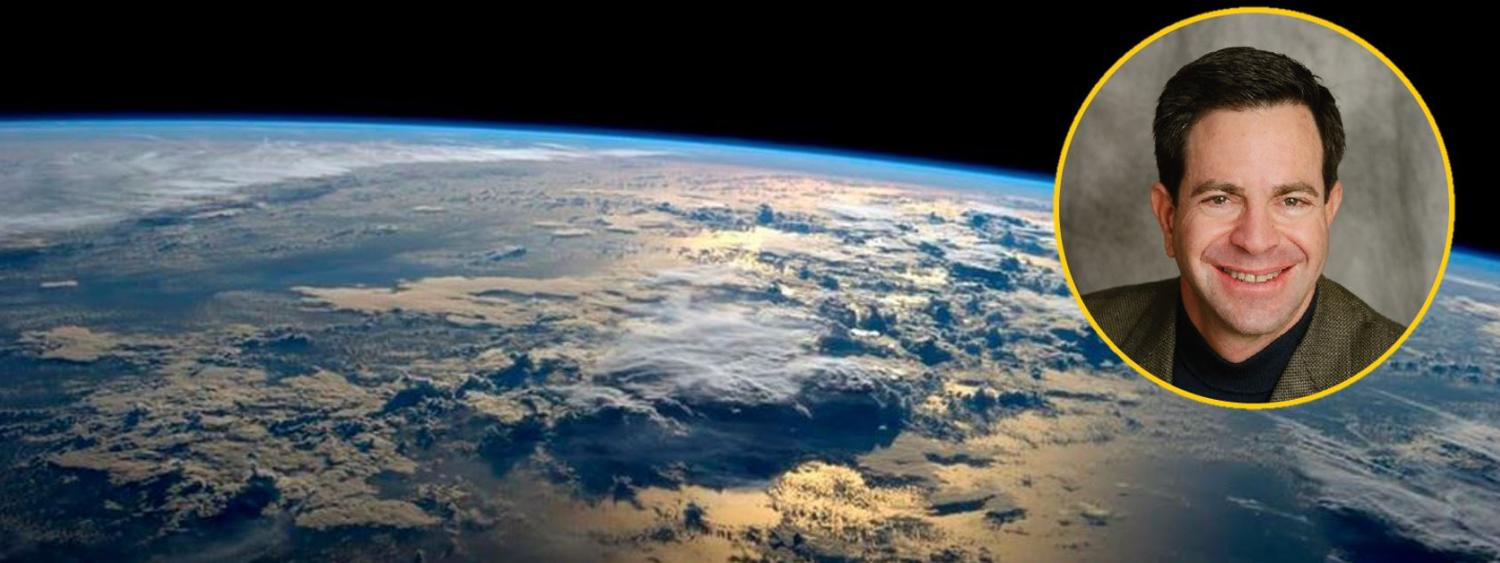 View of Earth from Orbit with Dr. Bennett's photo