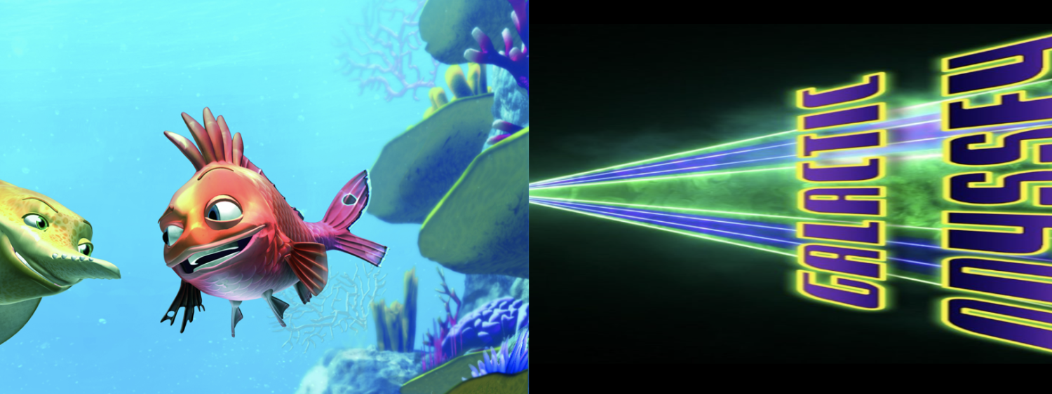 Still images from the Kaluoka'hina & Laser Galactic Odyssey films