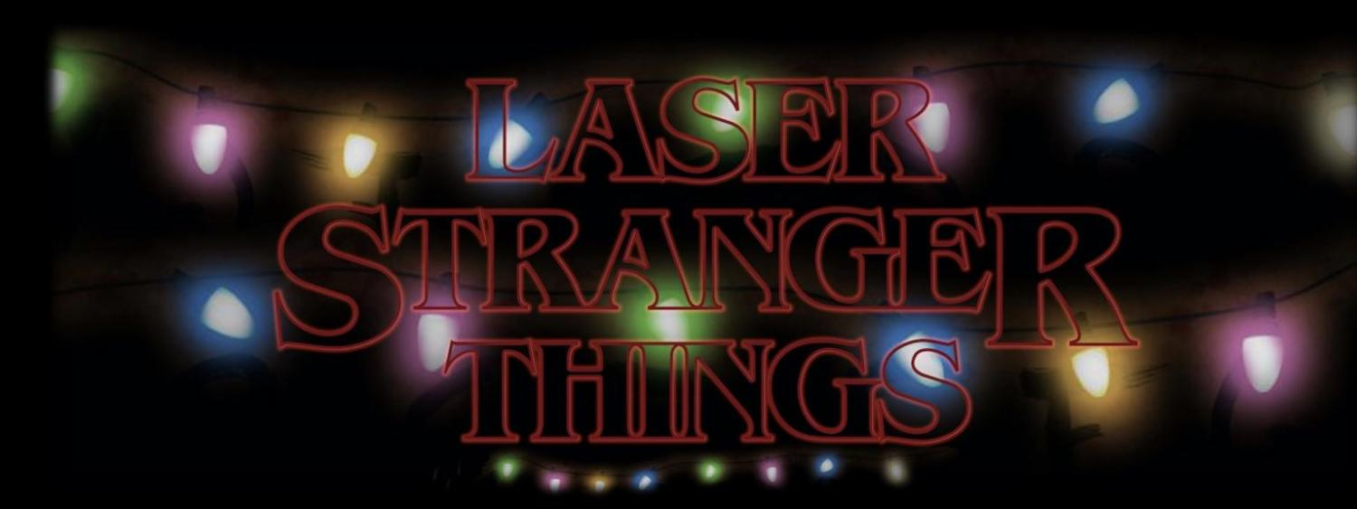 Laser Stranger Things graphic with lights