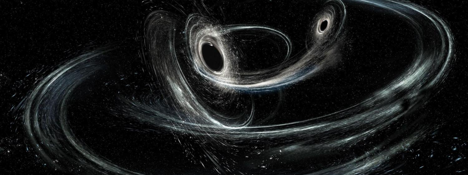 Artist illustration of merging blackholes