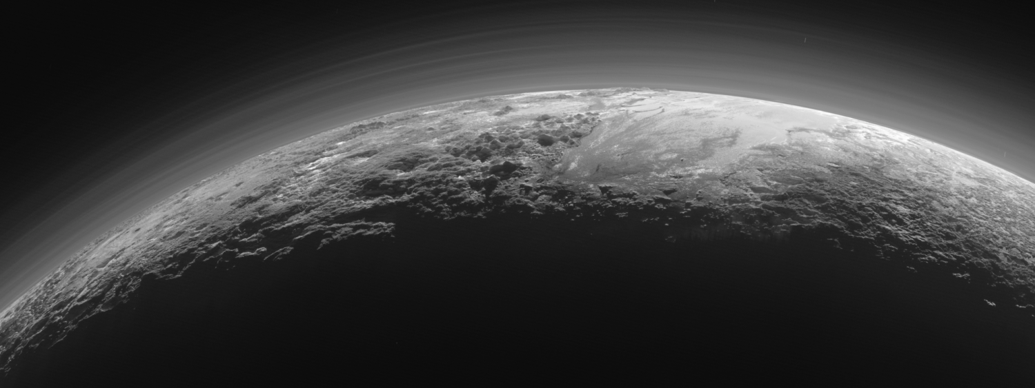 New Horizons mission photo of Pluto's atmosphere