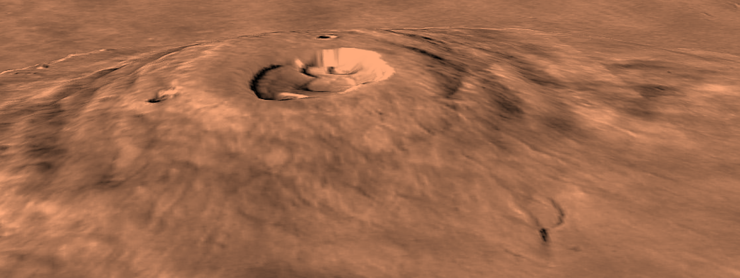 Photo of Olympus Mons from orbiting spacecraft