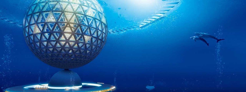 Artist illustration of underwater city