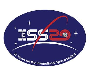 ISS logo patch 20th anniversary