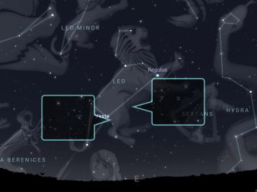 Constellation of Leo from Stellarium