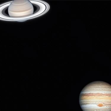 Photographs of Saturn and Jupiter