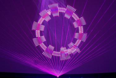 Laser fantasy image with purples and pinks