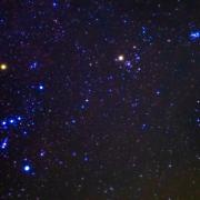 Photograph of Orion, Taurus and the Pleiades