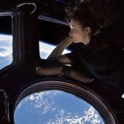 NASA - Astronaut Tracy Caldwell Dyson in the Cupola onboard the ISS