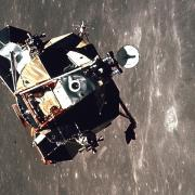 Apollo 11 lunar module Eagle as it returned from the surface of the Moon to dock with the command module Columbia