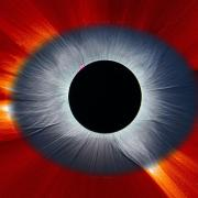 Combined Solar Eclipse Corona from Earth and Space  NASA SOHO Eclipse Space Ground_Koutchmy_4266