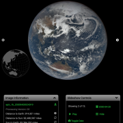 Screen grab from website of the Earth from DSCOVR: EPIC spacecraft