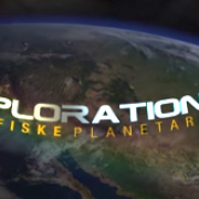 Explorations film intro graphic with Earth in the background
