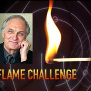 The Flame Challenge promo piece with photo of Alan Alda